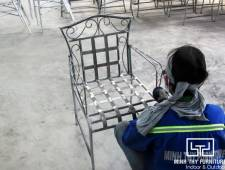 Ra mẫu bàn ghế sắt mỹ nghệ sơn tĩnh điện sân vườn