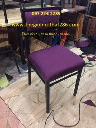 ghế sắt bọc nỉ GSN03