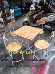 ghế bar thấp +bàn vuông 60
