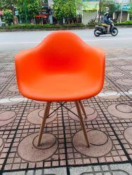 ghế nhựa chân đan có tay