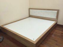 giường gỗ bọc đệm GG3C