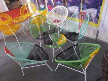 bàn ghế mây nhựa MN1