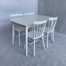 Bộ bàn Ăn B12CS + 04 Ghế Con Tiện