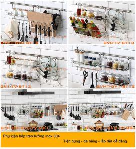 Giá inox treo tường bếp TV-GVMT-ST12