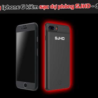 Ốp lưng iphone 6 kiêm sạc dự phòng SJHD - đen