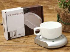Dụng cụ hâm nóng trà gắn cổng USB Hub & Warmer