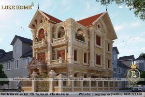 Biệt Thự 3 Tầng Tân Kiến Trúc Pháp Tại Hưng Yên- Mã số: BT 3151
