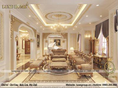 Mẫu thiết kế nội thất tân cổ điển sang trọng, quý phái - NT 0145