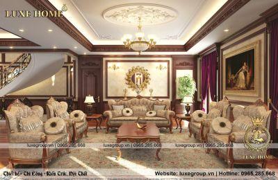 Thiết kế nội thất tân cổ điển đẳng cấp, thời thượng - NT 0146