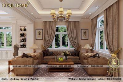 Thiết kế nội thất tân cổ điển tinh tế và trang nhã – NT 1138