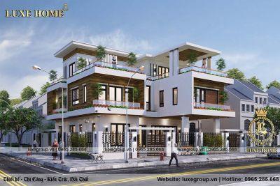 Mẫu biệt thự 3 tầng hiện đại mặt phố Anh Tùng Thái Nguyên – BT3192