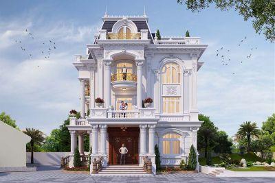 Thiết kế biệt thự sân vườn 3 tầng đẹp - BT 3195