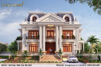 Biệt thự 2 tầng tân cổ điển màu sắc cổ kính - BT 2209