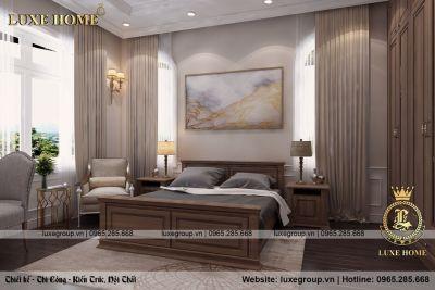 Không gian phòng ngủ tân cổ điển trang nhã – NT 11381