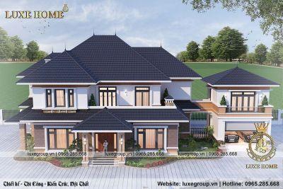 Biệt thự 2 tầng hiện đại mái thái đẹp nhất Nam Định – BT21945