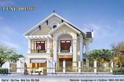 Mẫu nhà biệt thự 2 tầng tân cổ điển đơn giản mà đẹp – BT 22065