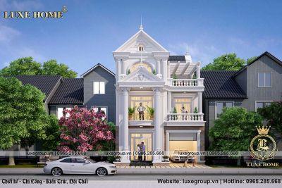Mẫu thiết kế nhà biệt thự 3 tầng đẹp sang trọng – BT 31915