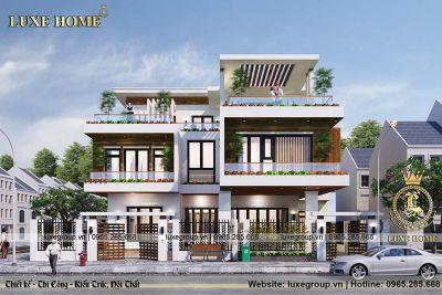 Mẫu biệt thự 3 tầng hiện đại mặt phố đẹp mê ly – BT 31925