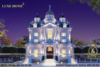 Thiết kế lâu đài cổ điển 5 tầng đẳng cấp đẹp mê mẩn – LD 52224