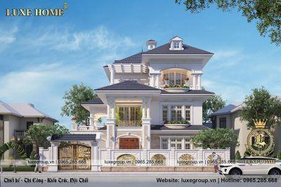 Mẫu biệt thự sang trong 3 tầng tân cổ điển tại Ninh Bình – BT 31899