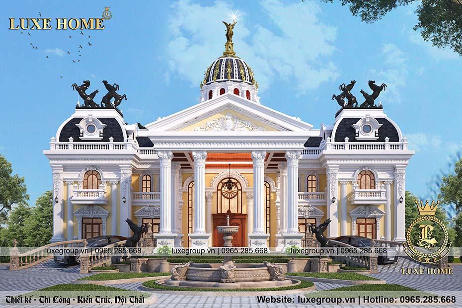 Lâu đài tân cổ điển 2 tầng đậm phong cách pháp - LD 2214