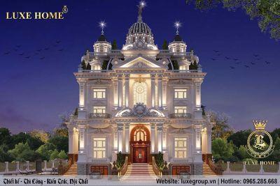 Thiết kế lâu đài cổ điển 5 tầng gia đình Anh Thà Buôn Ma Thuật - LD 5112
