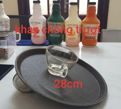 Khay nhựa chống trượt hình tròn size 28cm