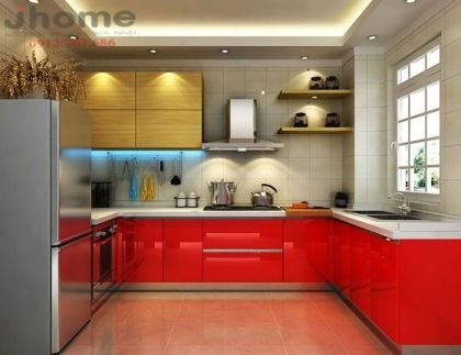 Tủ bếp gỗ nhựa Picomat - Nội thất Jhome
