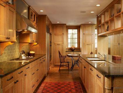 Tủ bếp gỗ Sồi Nga - Nội thất Jhome