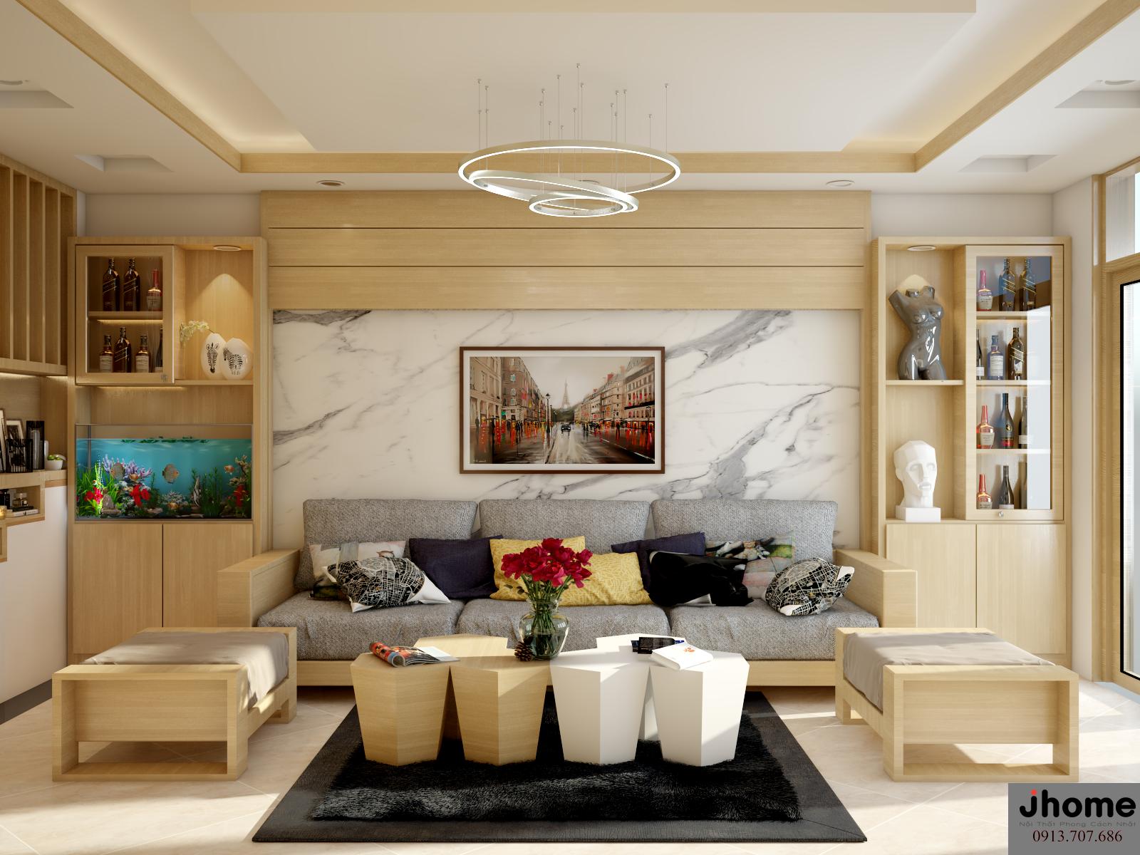 Thiết kế, thi công nội thất nhà phố tại Hà Nội - Nội thất Jhome