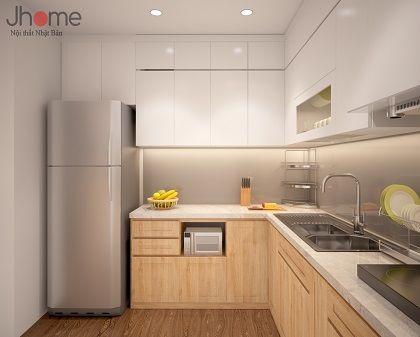 Thiết kế nội thất phòng bếp chung cư Five Star Garden - Nội thất Jhome