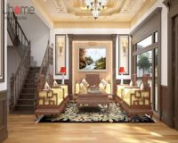 Thiết kế nội thất phòng khách biệt thự ở Hải Phòng - Nội thất Jhome