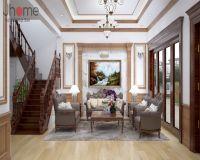 Thiết kế nội thất phòng khách biệt thự tân cổ điển ở Hải Phòng - Nội thất Jhome