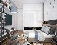Thiết kế nội thất phòng ngủ trẻ nhà phố hiện đại - Nội thất Jhome