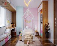 Thiết kế nội thất phòng ngủ con gái chung cư tòa L3 Ciputra - Nội thất Jhome