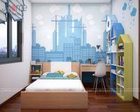 Thiết kế nội thất phòng ngủ con trai chung cư nhà chị Dung Capital Garden - Nội thất Jhome