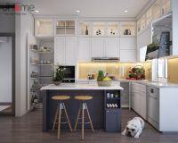 Thiết kế nội thất phòng bếp biệt thự Ecopark nhà chị Phương - Nội thất Jhome