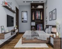 Thiết kế & thi công nội thất phòng ngủ bà chung cư tòa nhà hỗn hợp Hoàng Quốc Việt - Nội thất Jhome