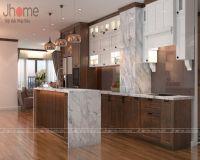 Thiết kế, thi công nội thất phòng bếp chung cư Mipec Long Biên - Nội thất Jhome