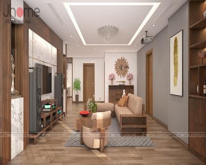 Thiết kế, thi công nội thất chung cư L3 Ciputra - Nội thất Jhome
