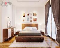 Thiết kế, thi công nội thất phòng ngủ master chung cư L3 Ciputra - Nội thất Jhome