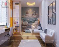 Thiết kế, thi công nội thất phòng ngủ con trai chung cư L3 Ciputra - Nội thất Jhome