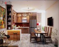 Thiết kế, thi công nội thất phòng bếp nhà phố Dương Quảng Hàm - Nội thất Jhome