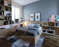 Thiết kế, thi công nội thất phòng ngủ con trai nhà phố Dương Quảng Hàm - Nội thất Jhome