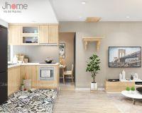 Thiết kế, thi công nội thất phòng khách + bếp căn hộ tập thể Kim Liên - Nội thất Jhome