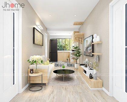 Thiết kế, thi công nội thất căn hộ tập thể Kim Liên - Nội thất Jhome