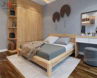Thiết kế, thi công nội thất phòng ngủ căn hộ tập thể Kim Liên