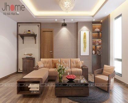 Thiết kế, thi công nội thất phòng khách chung cư Ciputra
