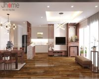 Thiết kế, thi công nội thất phòng khách chung cư Park 9 Park Hill - Nội thất Jhome