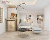 Thiết kế, thi công nội thất phòng khách chung cư D'le Pont D'or - Nội thất Jhome